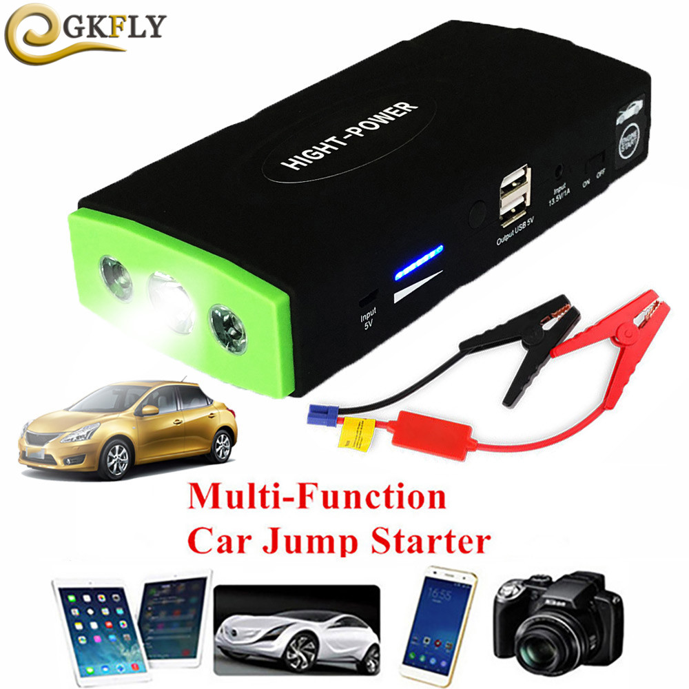 Mini Emergency Car Jump Starter High Power Portable Power Bank Vehicle Battery Charger 12V Startup Power for car Starting Device(China)