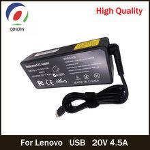 Qinern 20v 45a 90w usb ac зарядное устройство адаптер питания