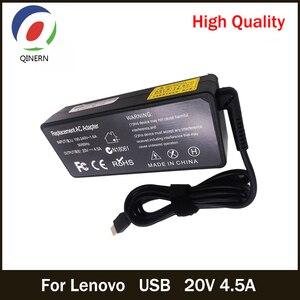 QINERN 20V 4.5A 90W USB AC Laptop Charger Power Adapter For Lenovo ThinkPad X1 Ultrabook Eraser B40 G50 M4400 M4450 Z50 Z505