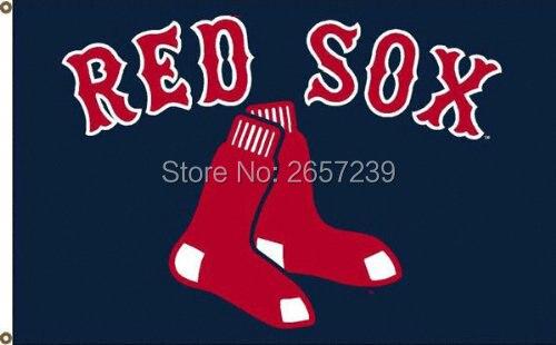 boston red sox logo flag 3x5ft mlb banner 100d 150x90cm polyester