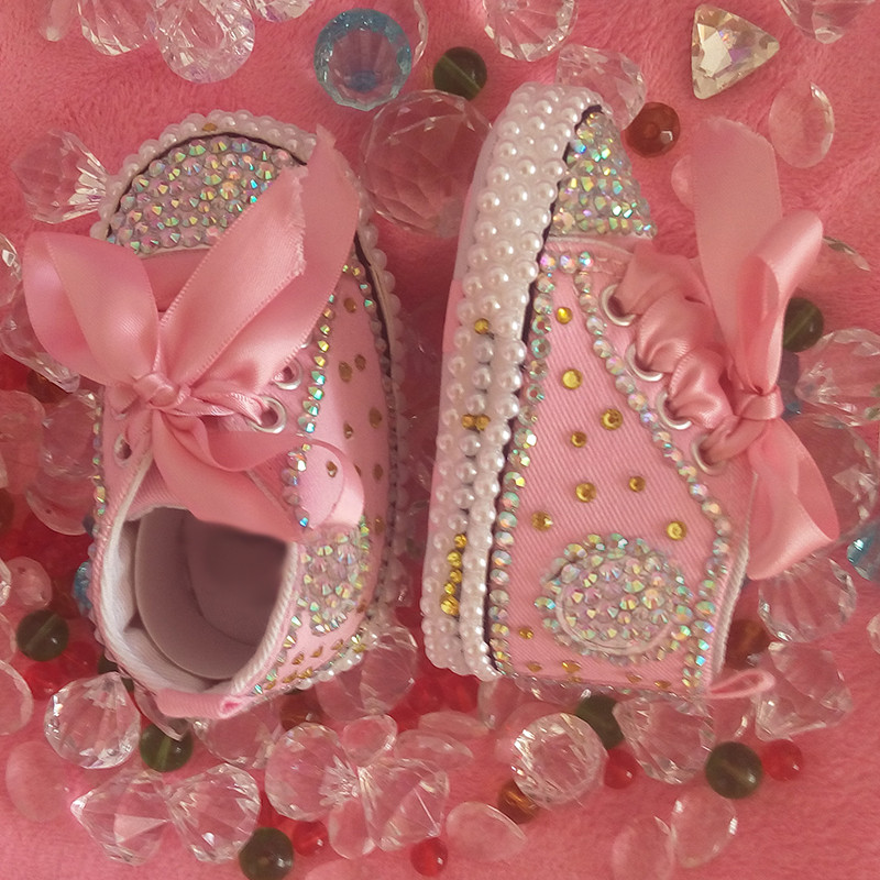 free shipping rhinestone Crystal Baby Girl Child shoes handmade Bling diamond First Walkers bead soft shoes pearl princes lovely-in First Walkers from Mother & Kids on Aliexpress.com | Alibaba Group