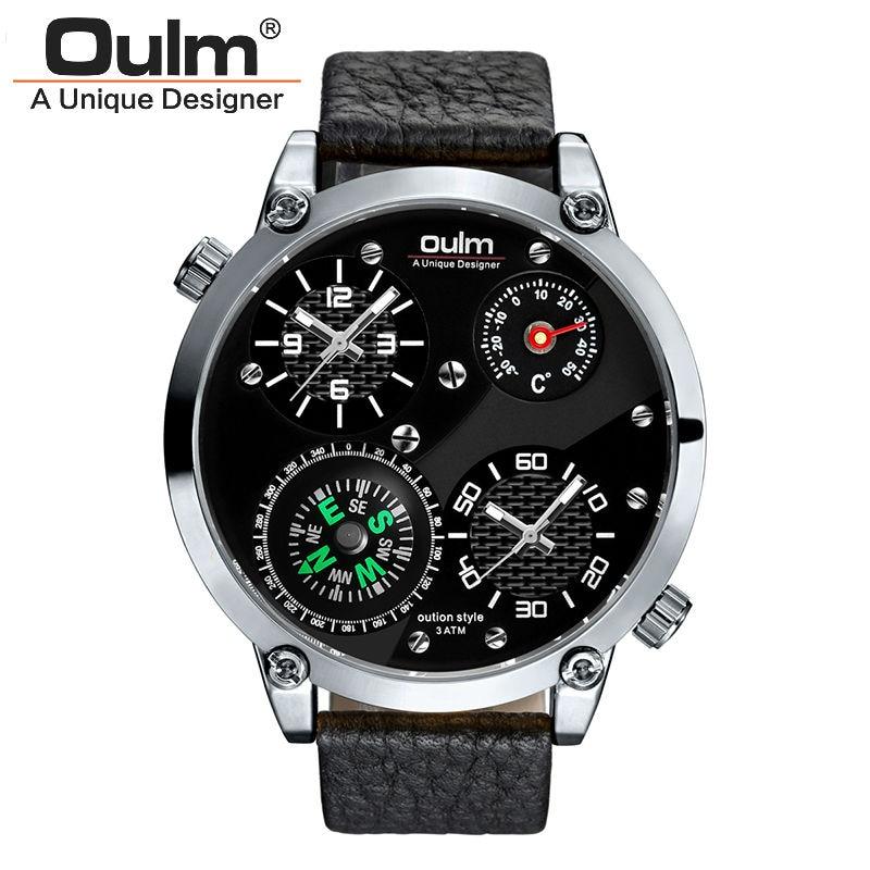 mens watches top brändi luksus oulm sõjaline termomeeter kompass - Meeste käekellad - Foto 2