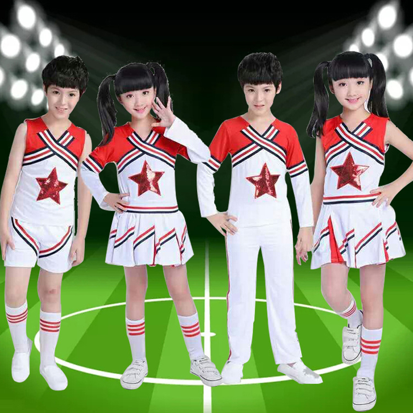 Halloween Party Wear Baby Girls School Uniform Kids Boys Cheerleader Costumes Performance Football Basketball Game Wear