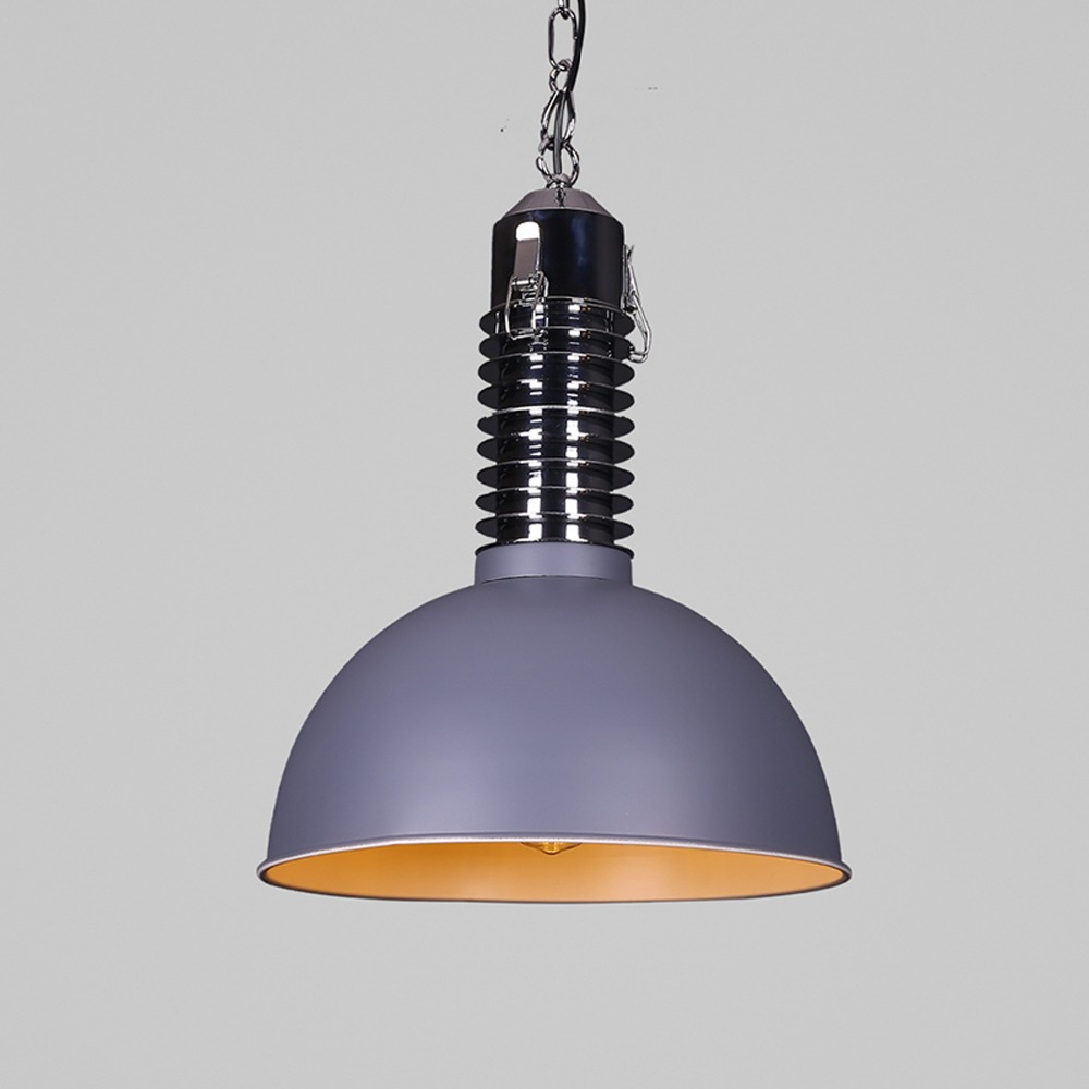 Creative industrial lamps - Loft Restaurant Single Head Nordic Rh Style Pendant Lamps Industrial Iron Creative Retro Personality Bar Chandelier