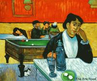Portrait Painting Night Cafe at Arles by Paul Gauguin Canvas Painting Impressionist Hand painted 100% Frameless