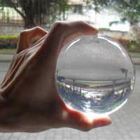 60/70/80/90/100mm de cristal Ultra Bola de acrílico clara manipulación póngase en contacto con malabares con trucos de magia ilusión juegos de magia niños