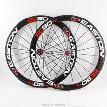 Yeni 700C 50mm yol bisikleti parlak mat 12K tam karbon fiber bisiklet tekerlek karbon kattığı tübüler jantlar 23 25mm genişlik ücretsiz gemi