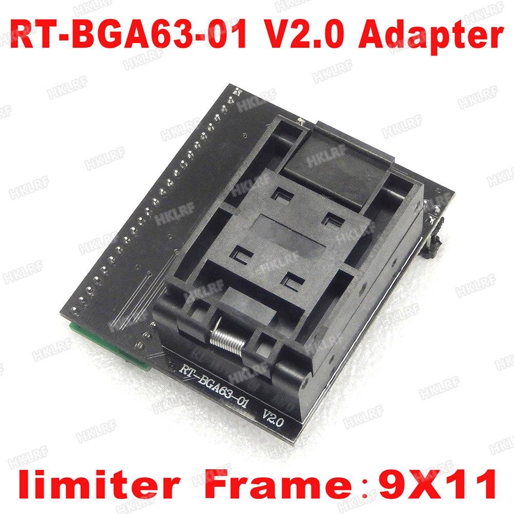 BGA63 adapter for RT809H SOCKET RT BGA63 01 V2 0 0 8MM 9x11 Free Shipping