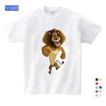 2019 Summer New T Shirt Cartoon Madagascar Lion Alex Cute Tops T Shirt Summer Send Children Birthday Gift T-shirt Unisex YUDIE 2018 new summer casual men t shirt may only the best are born in may men s t shirt grey birthday gift 00512