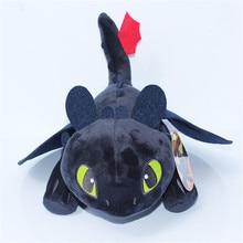 """Come addestrare il tuo drago 3 Night Fury peluche 9 """"bambola senza denti giocattolo farcito animale morbido regalo del fumetto per bambini bambola 23cm"""