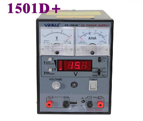цены YIHUA 220V 1501D+ 15V 1A Adjustable DC Power Supply Mobile Phone Repair Test Regulated Power Supply