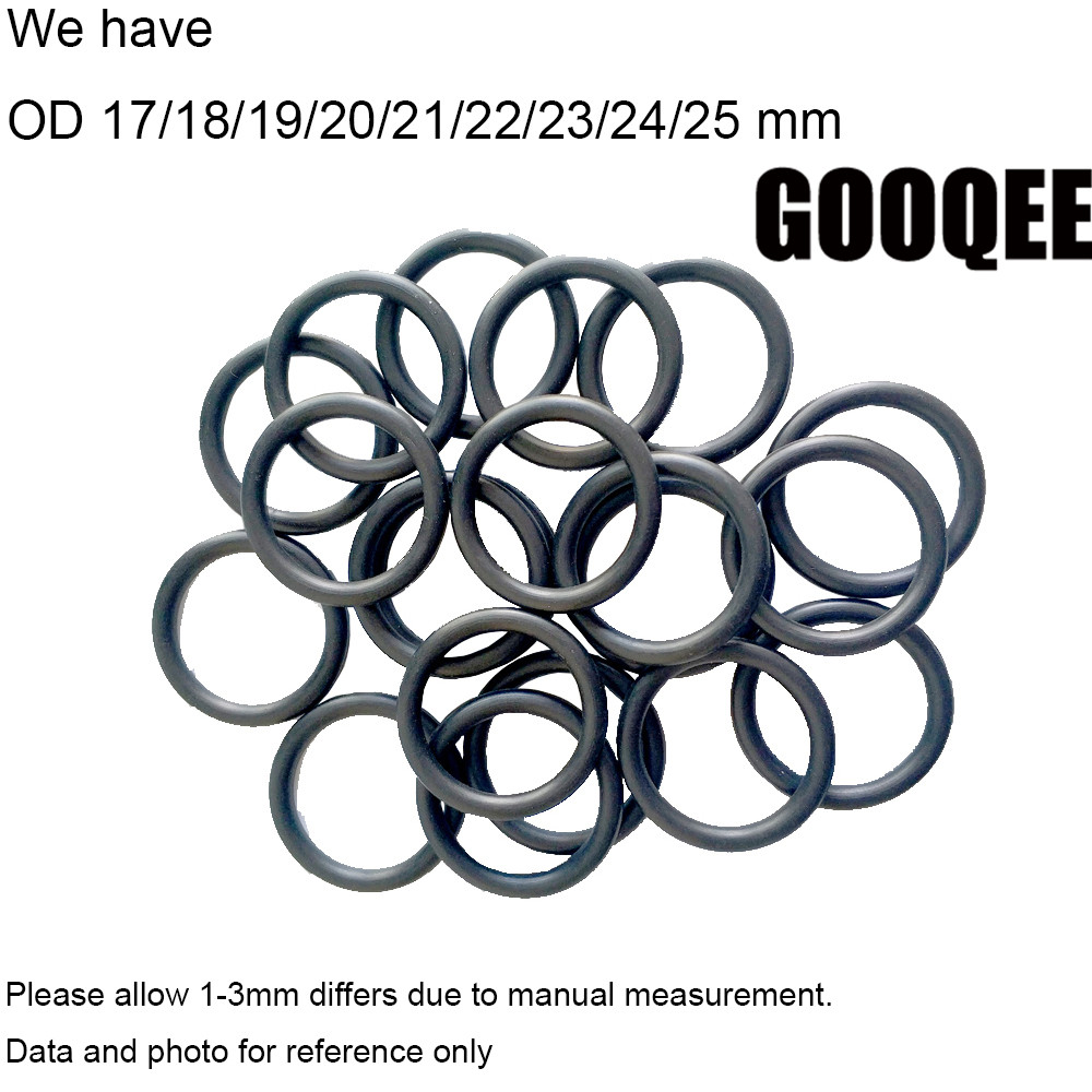 10PCS NBR OD17/18/19/20/21/22/23/24mm Oil Resistant Nitrile Butadiene Rubber Ring Seal Section 2.4mm O-Ring Sealing Ring Gasket