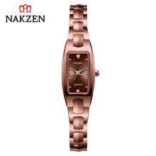 цена NAKZEN brand genuine fashion women's watch tungsten steel bracelet ladies watch diamond female watch waterproof female watch онлайн в 2017 году