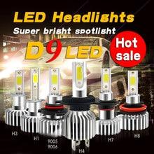 D9 H7 H1 H4 9006 9005 H8 H11 H3 H9 brilhante 881 9012 LED 72 W 6000 K 3000 K 8000 K COB Lampadas Automoveis 12 V 2 diodos lados
