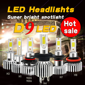 D9 brilhante H7 H1 H4 9006 9005 H8 H11 H3 H9 881 9012 LED 72 W 6000 K 3000 K 8000 K Automoveis 12 V COB Lampadas 2 diodos lados