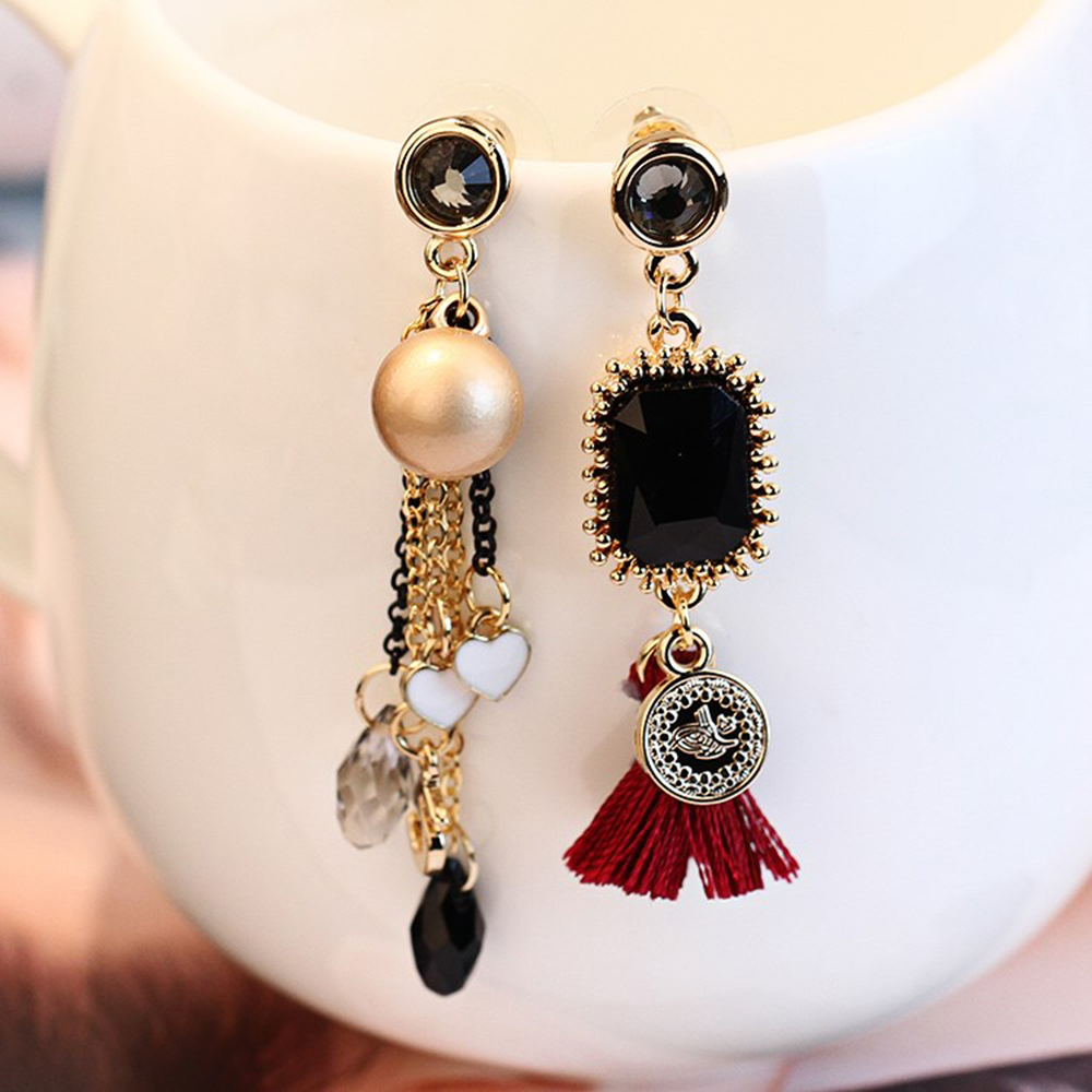 Fashion Statement Jewelry Long Tassel Earring For Women Gold Coin Handmade  Drop Earring Simulated Pearl 2