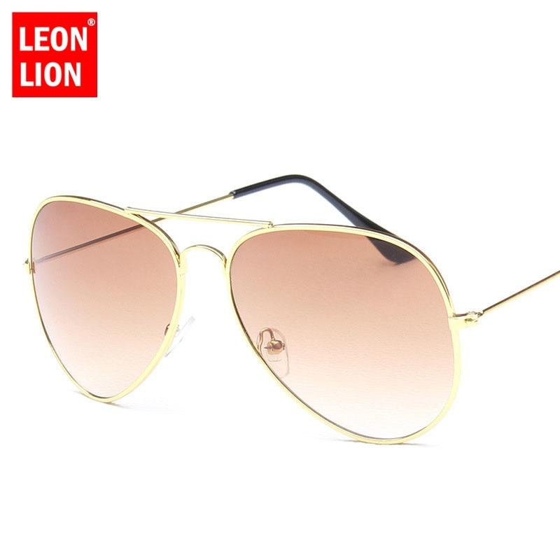 LeonLion 2018 Pilot Rainbow Sunglasses Women/Men Top Brand Designer Vintage Sun Glasses For Women Outdoor Driving Oculos De Sol