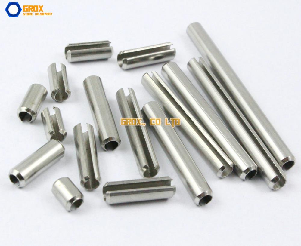 30 M8 x 20mm 304 Stainless Steel Slotted Spring Tension Pin Sellock Roll Pin