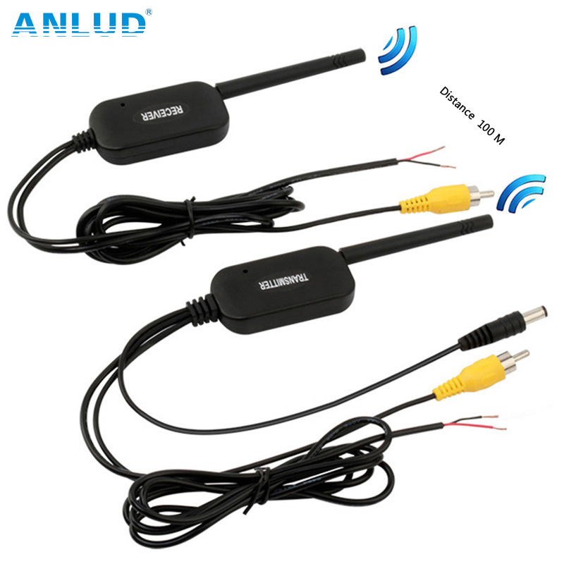 ANLUD 2.4G Wireless Transmitter Rear View Camera Video Receiver Kit For Car Bus Truck Reverse DVD Monitor Backup Cam 100m Range