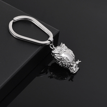 IJK2040 Wholesale or Retail 1pcs/lot Stainless Steel Owl Keychain for Man Keepsake Jewelry Cremation Urn Key Ring for Ashes