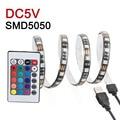 5050 RGB LED Strip Waterproof USB Strip DC5V 50CM 1M 2M LED Flexible Light TV Background Lighting With 24keys Remote