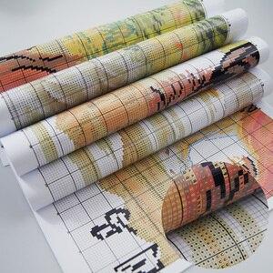 Image 5 - 11CT 14CT キャラコクロスステッチキット金星誕生手作り材料袋 Dmc ユキヤナギ家具布装飾ハンギング