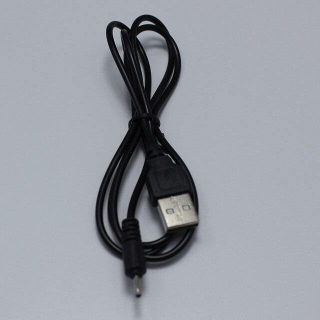Connecteur de charge noir 2.0 USB   Port USB à 2.0*0.6mm DC, câble dalimentation, connecteur de charge