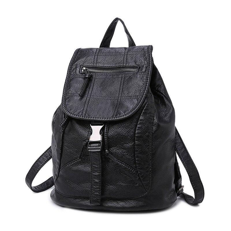ФОТО Shoulder bag girl Korean version 2017 new bag tide fashion casual leather women backpack travel bag laptop bag