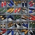 2016 Новый Плюс Размер Осень Натуральная Кожа Мужчины Обувь Мода Дышащая Повседневная Обувь Мужская Мокасины Мягкие Вождения Обувь 10 Цвета