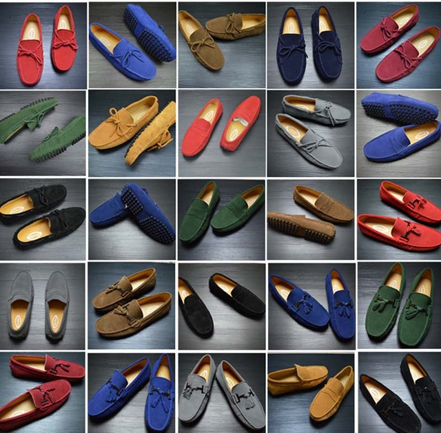 2016 New Plus Size Autumn Genuine Leather Men Shoes Fashion Breathable Casual Shoes Men Loafers Soft Driving Shoes 10 Colors