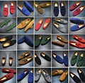 2016 Nuevo Más El Tamaño de Otoño Hombres del Cuero Genuino Zapatos de Moda Transpirable Zapatos Casuales Hombres Zapatos Mocasines de Conducción Suave 10 Colores