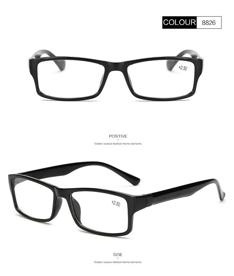 4686064f006 Ultra-light Classic Black Frame Retro Reading Glasses Women  Men Presbyopic  Eyeglasses Diopter 1.0 1.5 2.0 2.5 3.0 3.5 4.0