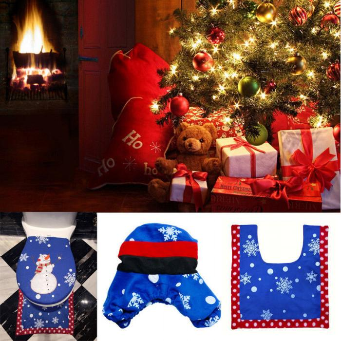 Tank Cover382016cm Contour Rug57555cm Coloras Picture Shown Great Addition To The Holiday Spirit With A Cute Smiley Face Snowman Toilet Seat