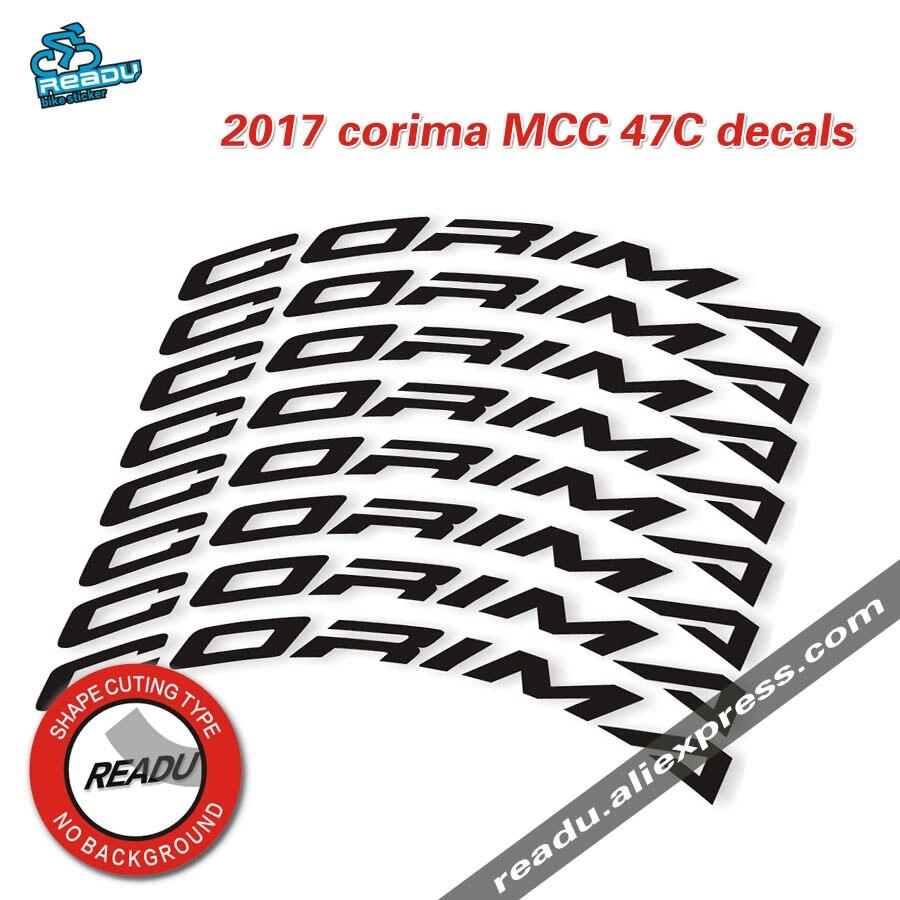 2017 corima MCC 47C vélo de route jante autocollants route vélo roues de carbone stickers