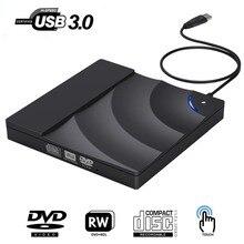Внешний DVD привод Высокоскоростной USB 3,0 CD DVD привод для ноутбука Настольный портативный тонкий CD DVD+/-RW горелки проигрыватель писатель Rewriter