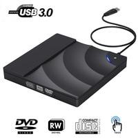 Внешний DVD привод Высокая скорость USB 3,0 CD DVD привод для ноутбука Настольный портативный тонкий CD DVD +/-RW горелки плеер писатель Rewriter