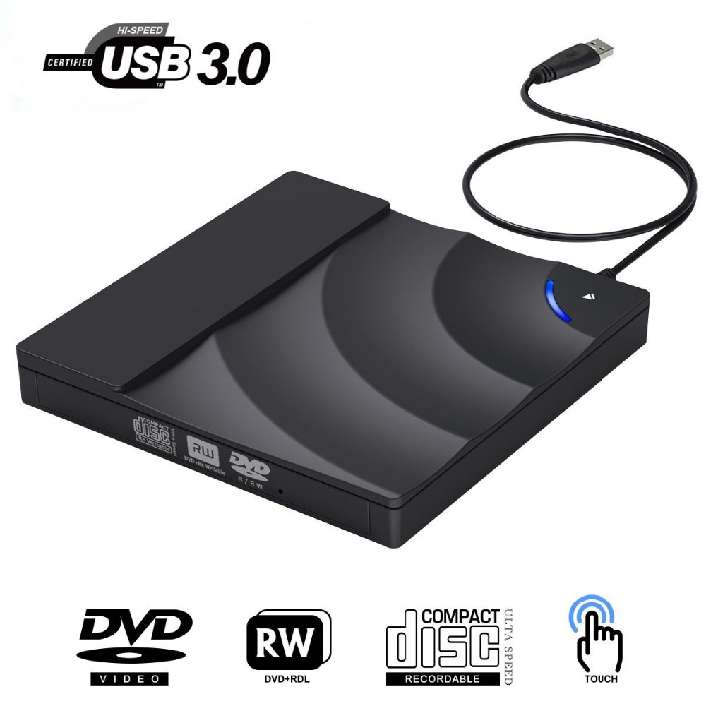 External DVD Drive High Speed USB 3.0 CD DVD Drive For Laptop Desktop Portable Slim CD DVD +/-RW Burner Player Writer Rewriter