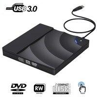External DVD Drive High Speed USB 3.0 CD DVD Drive For Laptop Desktop Portable Slim CD DVD +/ RW Burner Player Writer Rewriter