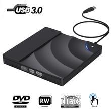 External DVD Drive High Speed USB 3.0 CD DVD Drive For Laptop Desktop Portable Slim CD DVD +/-RW Burner Player Writer Rewriter