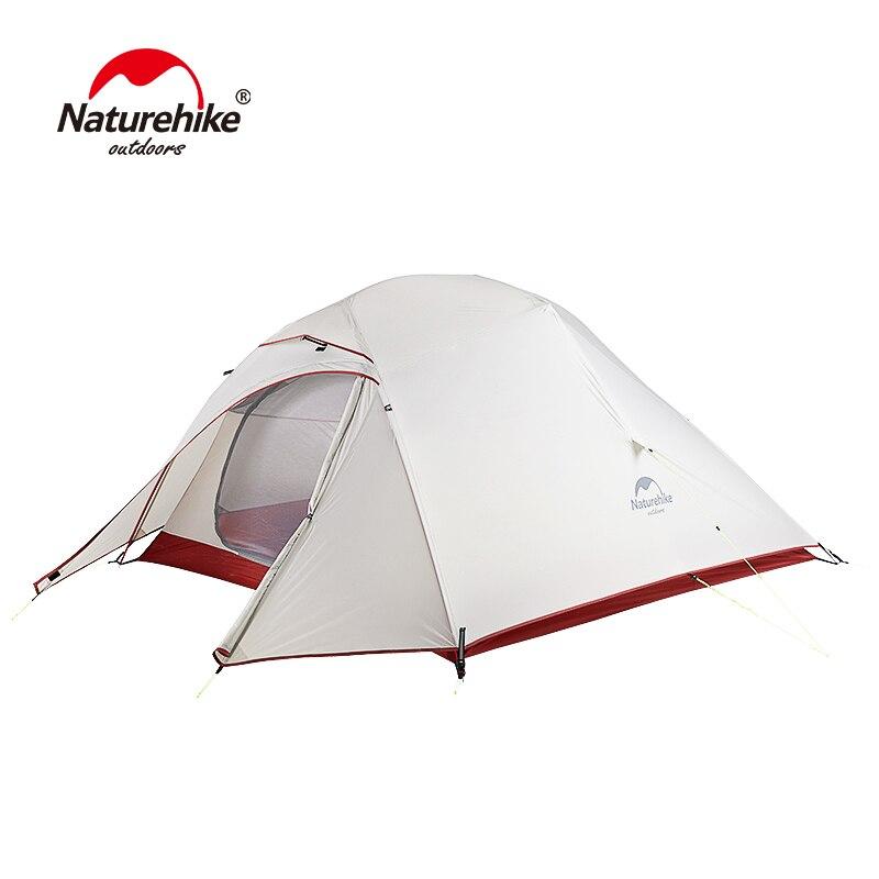 Nature randonnée mise à niveau nuage Up 3 tente ultra-légère autoportante 20D Silicone Camping tentes pour 3 personnes avec tapis gratuit NH15T003-T