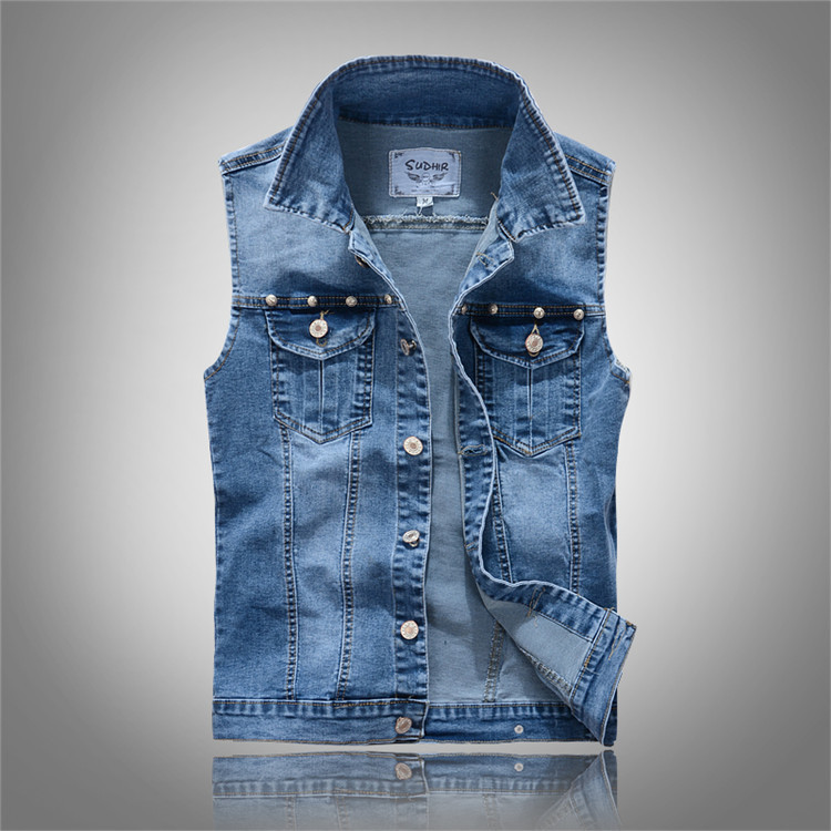 Popular Blue Jean Jacket Vest for Men-Buy Cheap Blue Jean Jacket ...