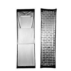 "Image 3 - Godox FW22*90 softbox 22x90cm 9""x 35"" Portable Rectangular Honeycomb Grid Softbox soft box with Bowens Mount for Studio Flash"