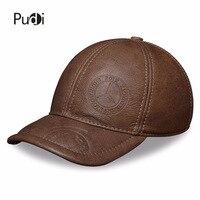 HL131 Genuine Leather Baseball Cap Men S Brand New Style Winter Warm Caps Hats Golf One