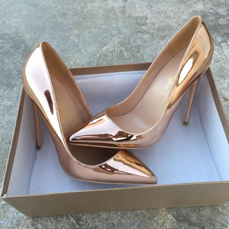2018 fashion women's high-heeled pumps size 35-43 OL simple wild Thin high heels shoes Solid shallow pointed toe party shoes