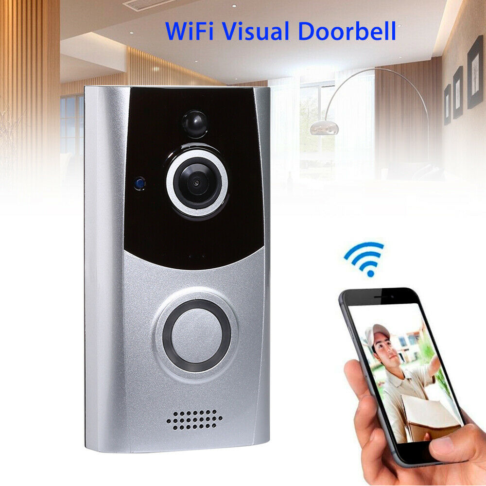 720P WiFi Wireless Doorbell Visual Security Intercom Camera Record Phone Bell M11