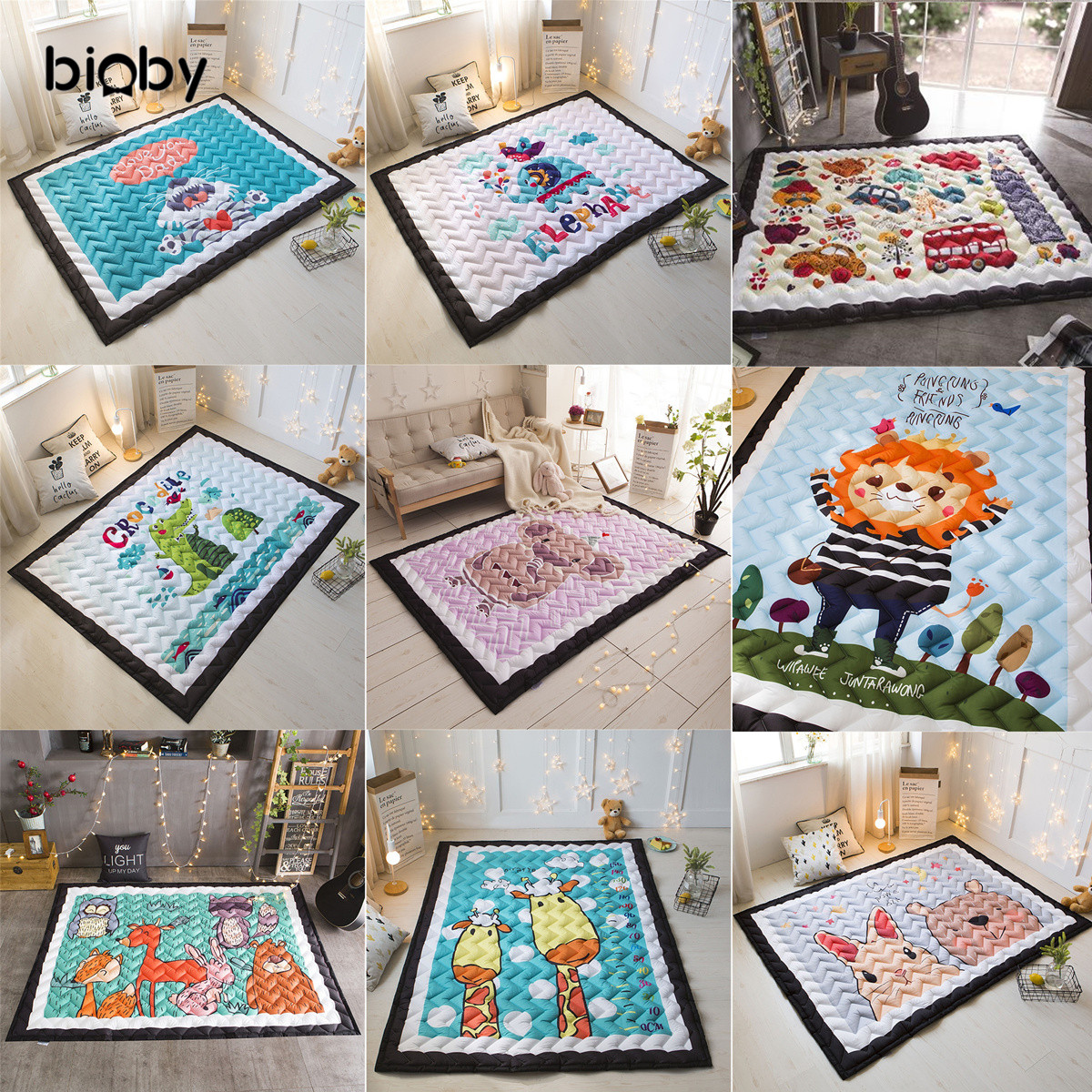 Baby Folding Room Crawling Play Game Mat Kids Thickened Carpet Infant Soft Floor Children Developing Gym Rug Outdoor Gift Pad baby floor rug musical developing gym mat for 2 10 months