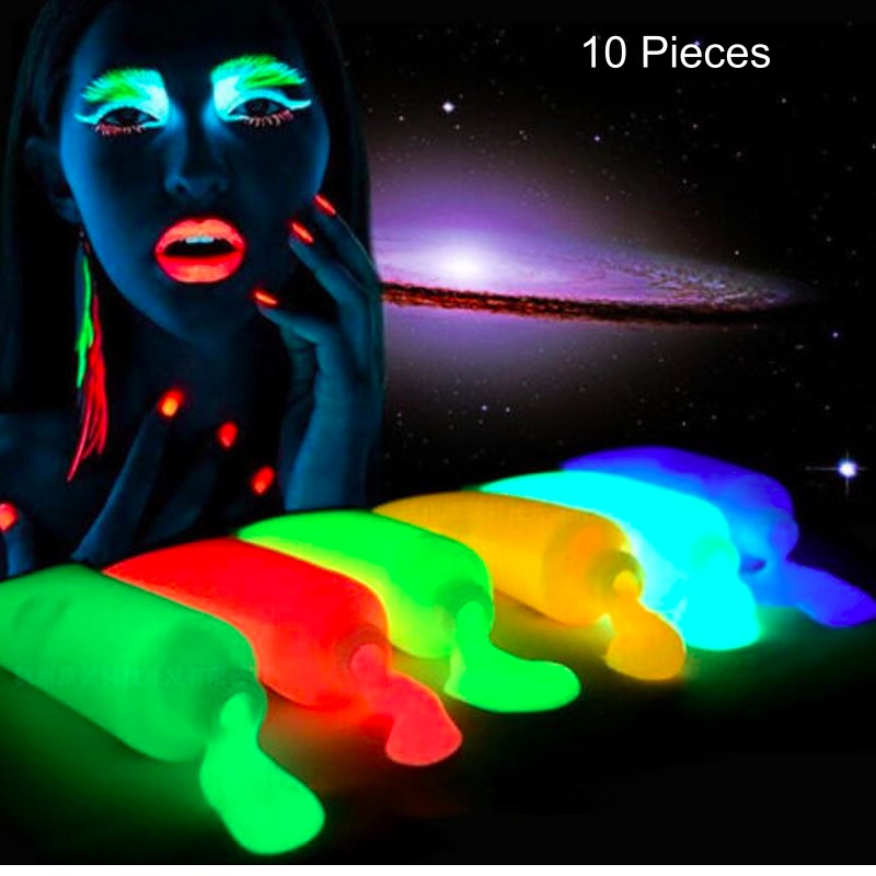 Intelligent Paintglow Fabric Paint Uv Neon Glow Clothing Paint Rave Festival Dance 13ml Clothing, Shoes & Accessories Art Supplies