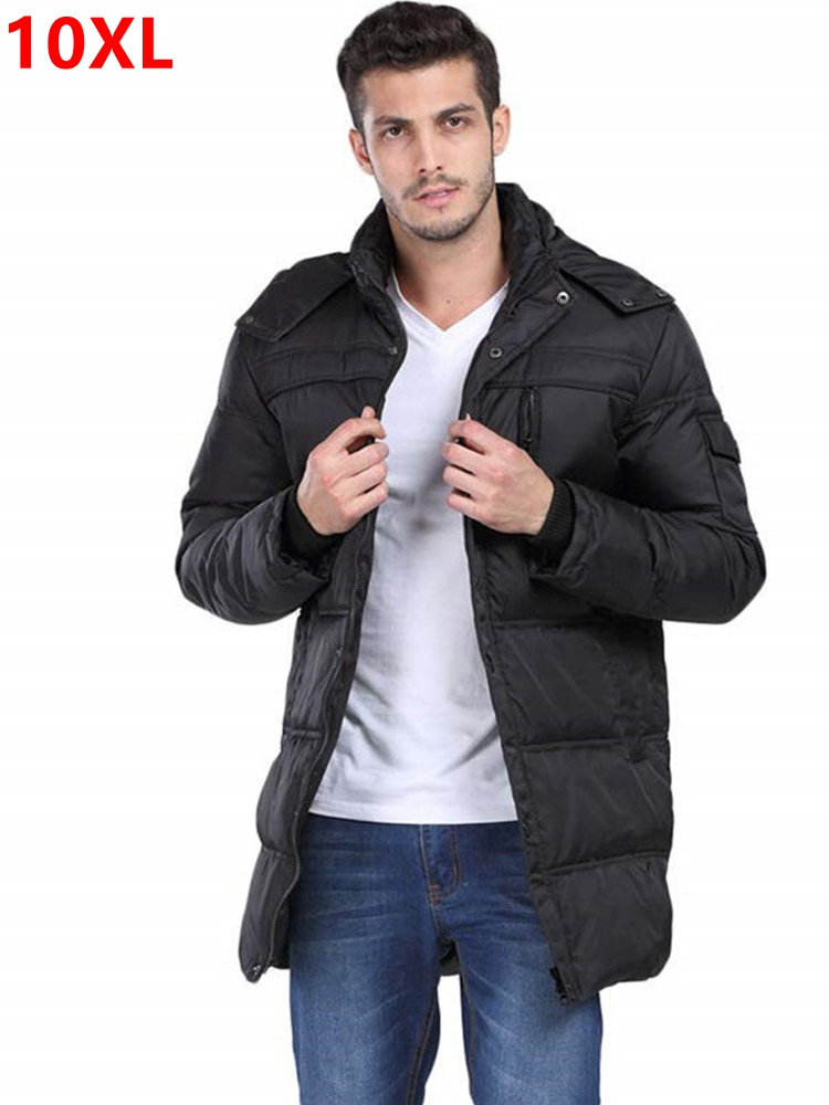 male plus size fat medium-long   down     coat   stand collar casual outerwear Large   down   jacket Big yards long   down   jacket 8XL 7XL