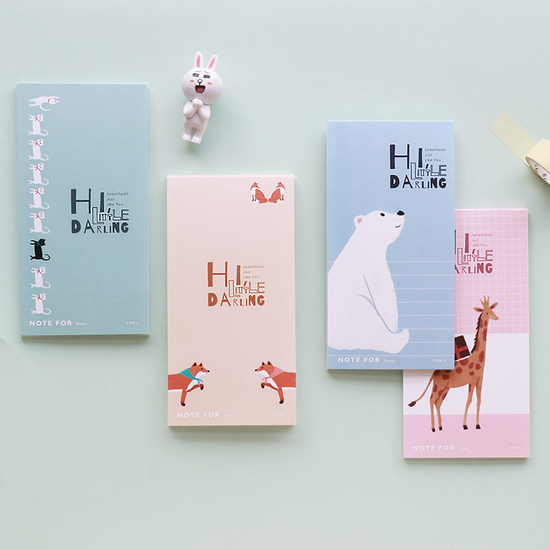 Creative Portable Hello darling memo pad Note book word plan can tear off stickers 80*157mm memo pads school office supplies infinite destiny in america photobook 50p memo note 100p 3 photo stickers release date 2013 10 18 korea kpop album