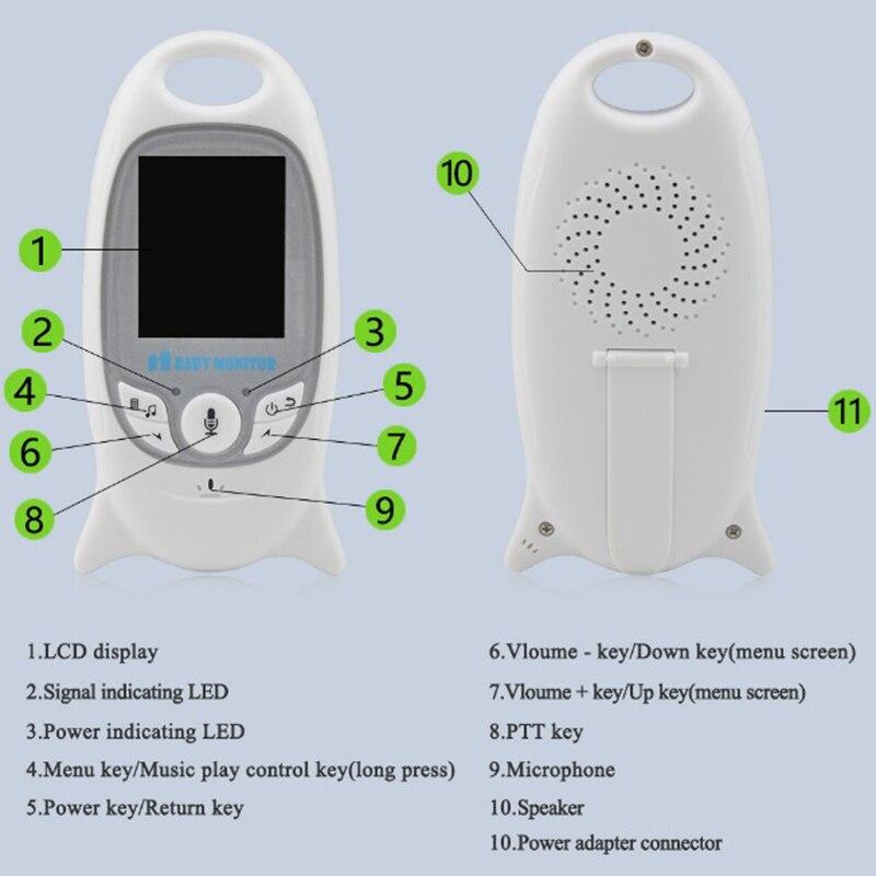 Moniteur bébé couleur vidéo sans fil babyfoon baba sécurité électronique 2 parler Nigh Vision LED surveillance de la température bebek telsizi - 4